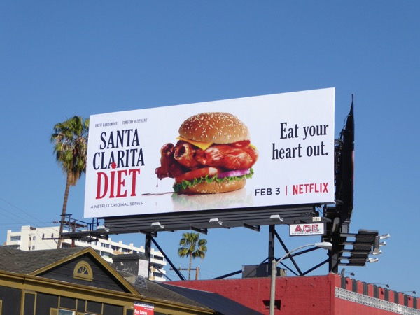 Santa Clarita Diet eat your heart out billboard