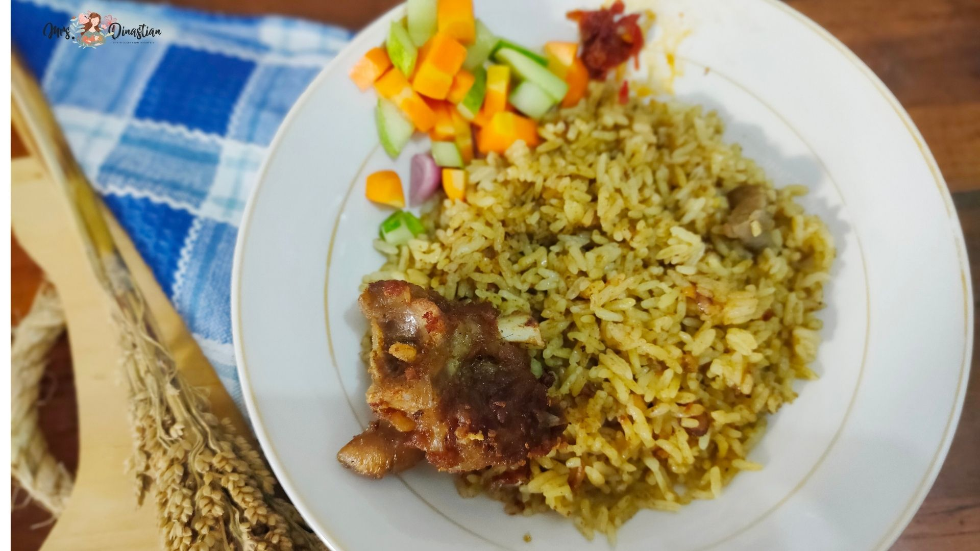 Cara membuat nasi kebuli kambing rice cooker