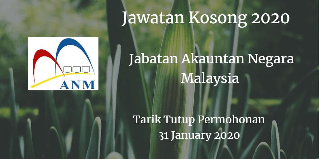 Jawatan Kosong JANM 31 January 2020