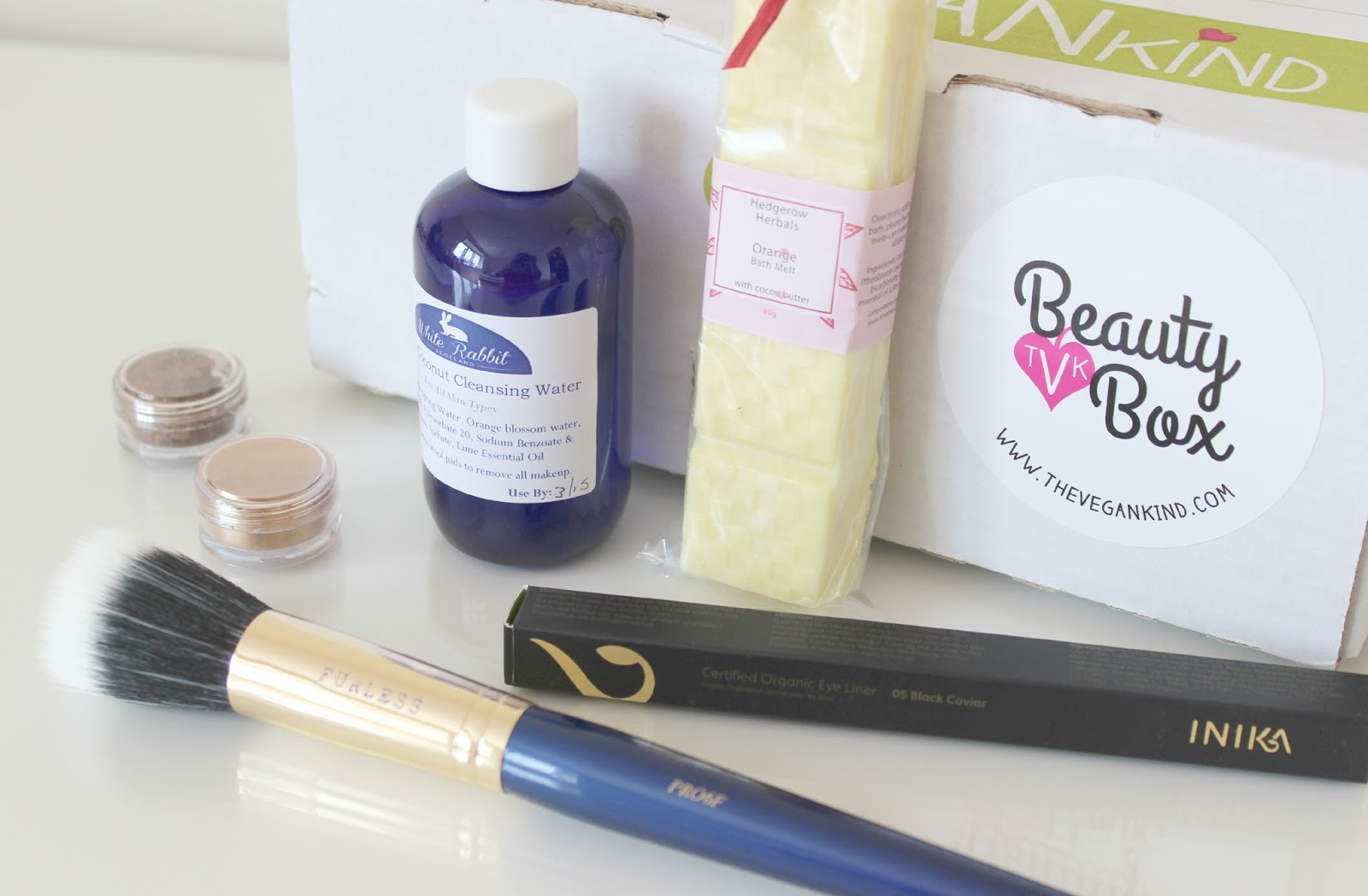 A picture of the July 2014 The Vegan Kind Beauty Box