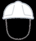 作業員のヘルメットのイラスト(女性)