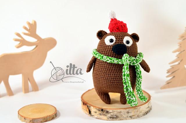 Amigurumi crochet Teddy bear christmas