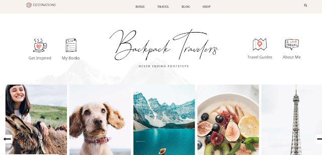 Backpack Clean responsive blogger theme