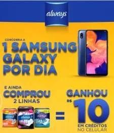 Cadastrar Promoção Always 1 Celular Por Dia Samsung Galaxy