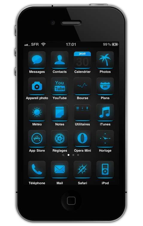 equix iphone 4 theme