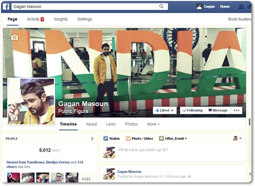 Gagan Masoun - Facebook Page - Like Us For Shayari and Status
