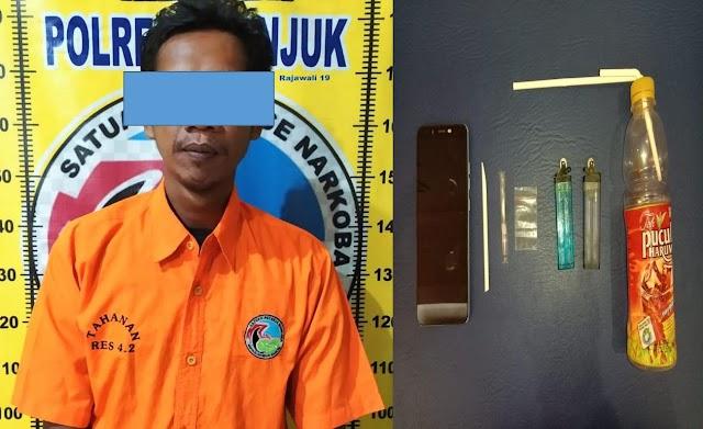 Tim Rajawali 19 Polres Nganjuk,Bekuk Kurir Sabu-sabu