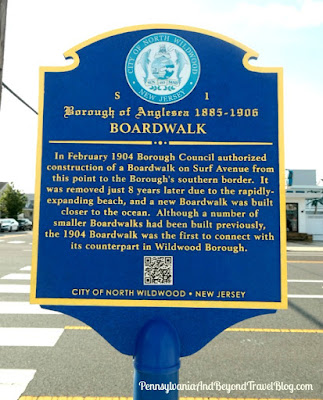 Anglesea Boardwalk Historical Marker in North Wildwood, New Jersey
