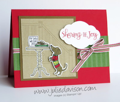 Stampin' Up! Ready for Christmas: Cookies for Santa Card ~ 2017 Holiday Catalog ~ www.juliedavison.com