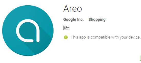 google areo app for shopping