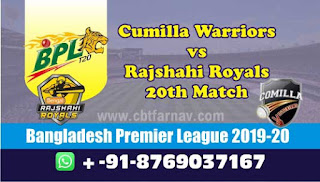 Comilla vs Rajshahi 20th Match BPL T20 Today Match Prediction Reports