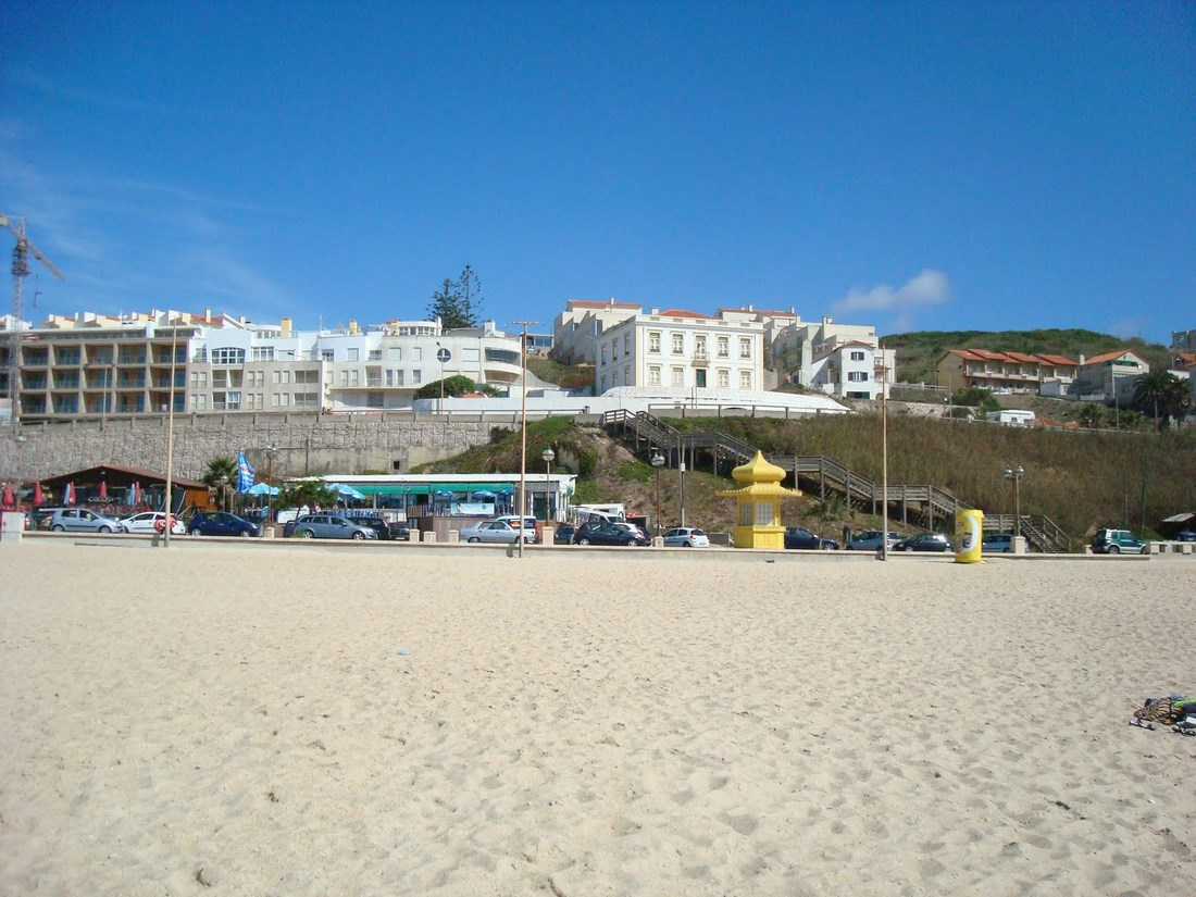 Beach at Foz do Arelho, Silver Coast, Portugal