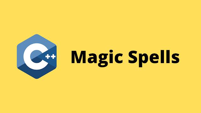 HackerRank Magic Spells solution in c++ programming