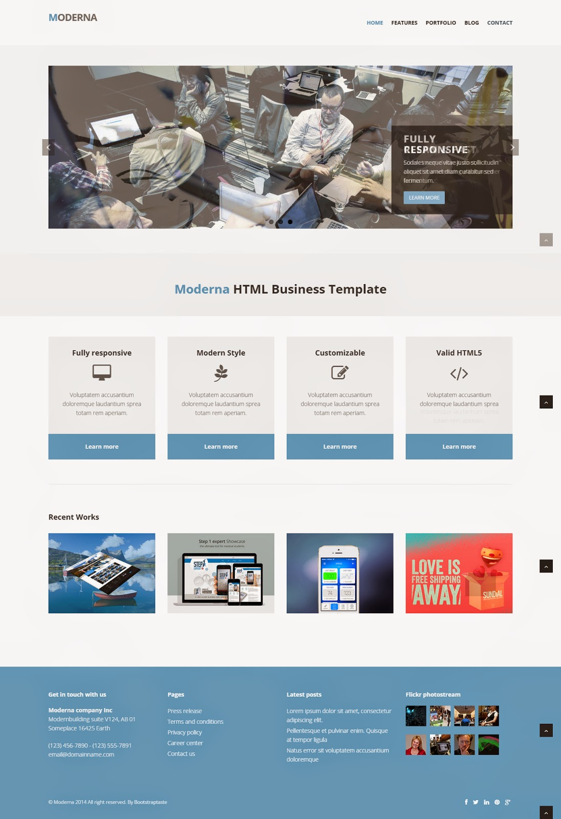 responsive website templates for it company free download