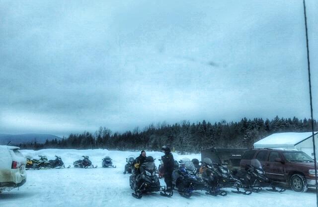 snowmobilers at Grammy's Country Inn, Linneus, Maine