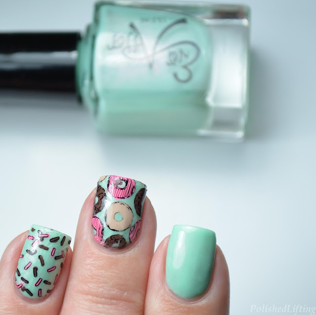 donut nail art