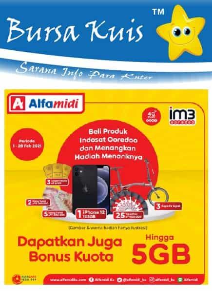 Kuis Promo Undian Indosat Ooredoo Terbaru 2021 di Alfamidi Berhadiah iphone