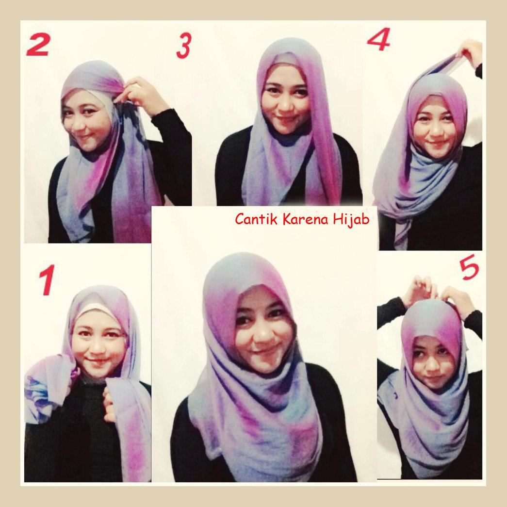 Gambar Cara Berhijab Sederhana Hijab Simple Gambar Lucu Terbaru
