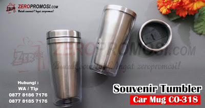 Car Mug Insert Paper + Cetak Full Color 460ML CO318, CO-318 Carmug Insert Paper, Souvenir Seminar Tumbler Carmug Insertpaper CO-318, Tumbler souvenir car mug co-318