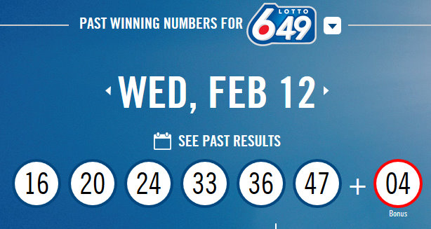 649 Canada Winning Numbers