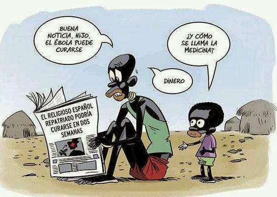 Viñeta Humor Ébola