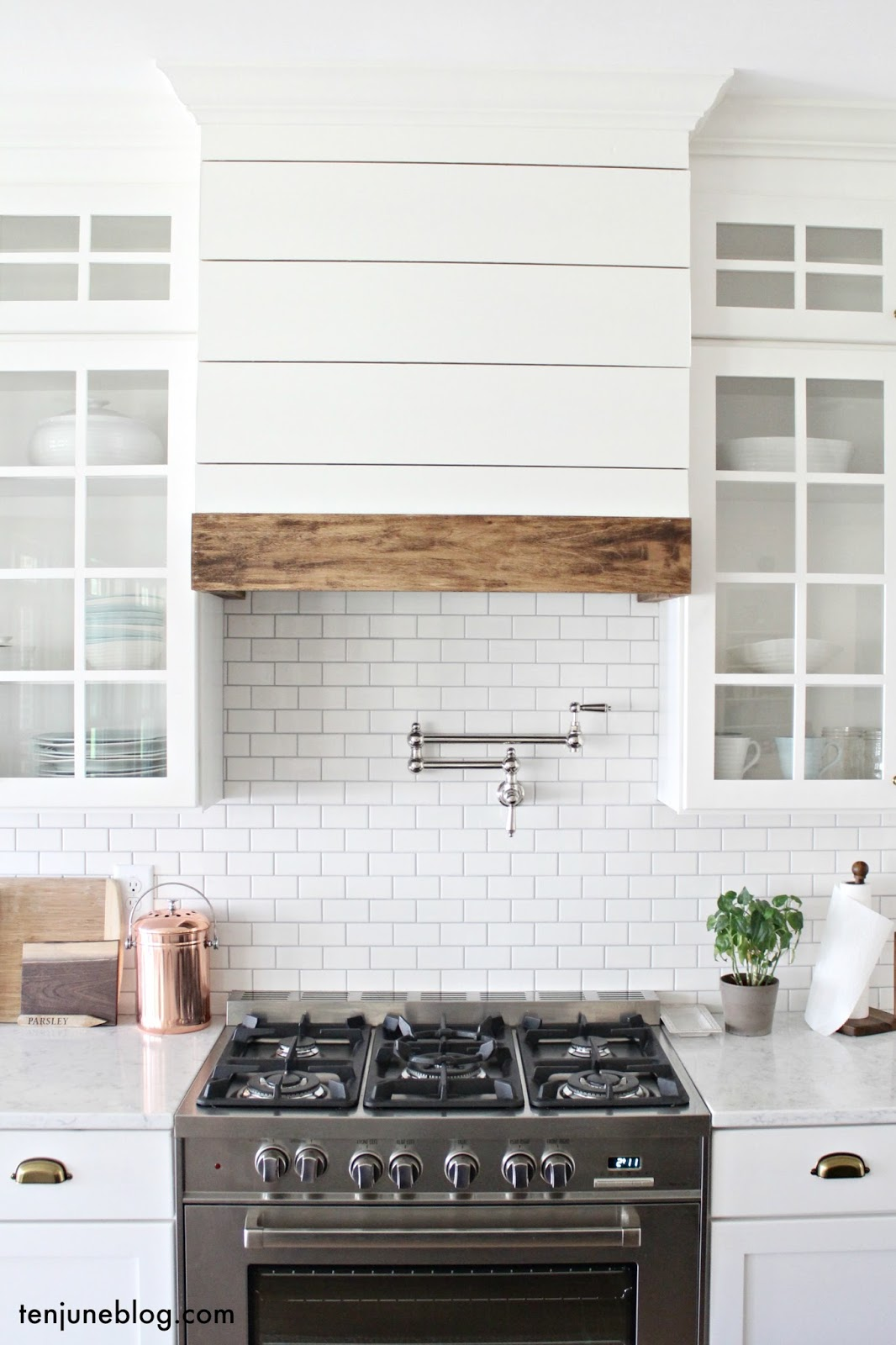 Ten June: Farmhouse Shiplap Kitchen Vent Hood