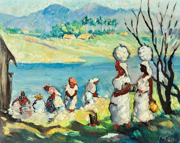 Lavanderas en el rio, Yoryi Morel, 1960