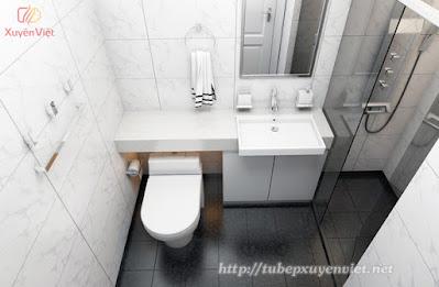 Tủ lavabo nhựa đẹp trong nhà vệ sinh