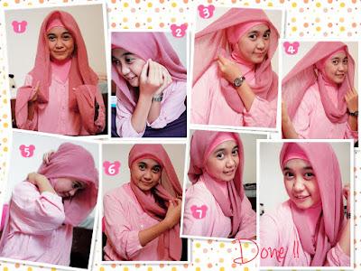 Cara Memakai Hijab Segi Empat Dengan Ciput