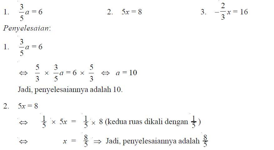 Pengertian dan Contoh Soal Persamaan Linear Satu Variabel ...