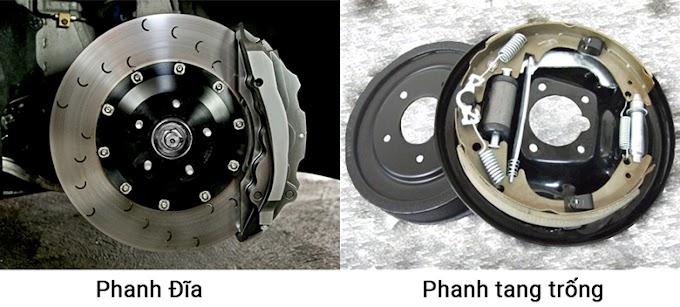 Hệ thống phanh đĩa và phanh tang trống trên ô tô bạn cần biết