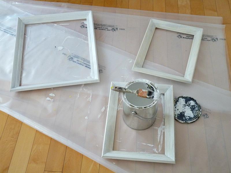 Paint vintage wood frames mint