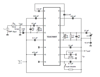 TDA7088T -Mechanical-Tuning-Circuit-Diagram