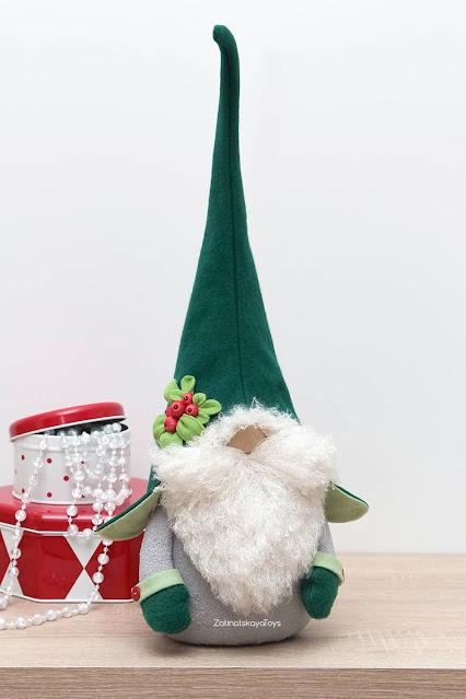Olof Christmas gnome on the shelf by sewing patterns of Zatinatskaya Natalia