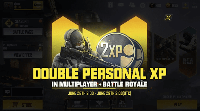Call of Duty Mobile is Getting A 'Double Personal XP'