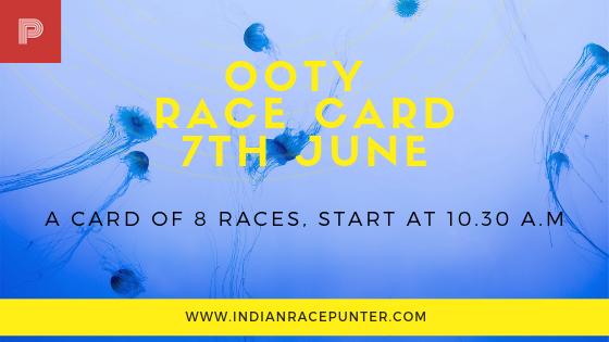 ooty race card, Trackeagle, Racingpulse
