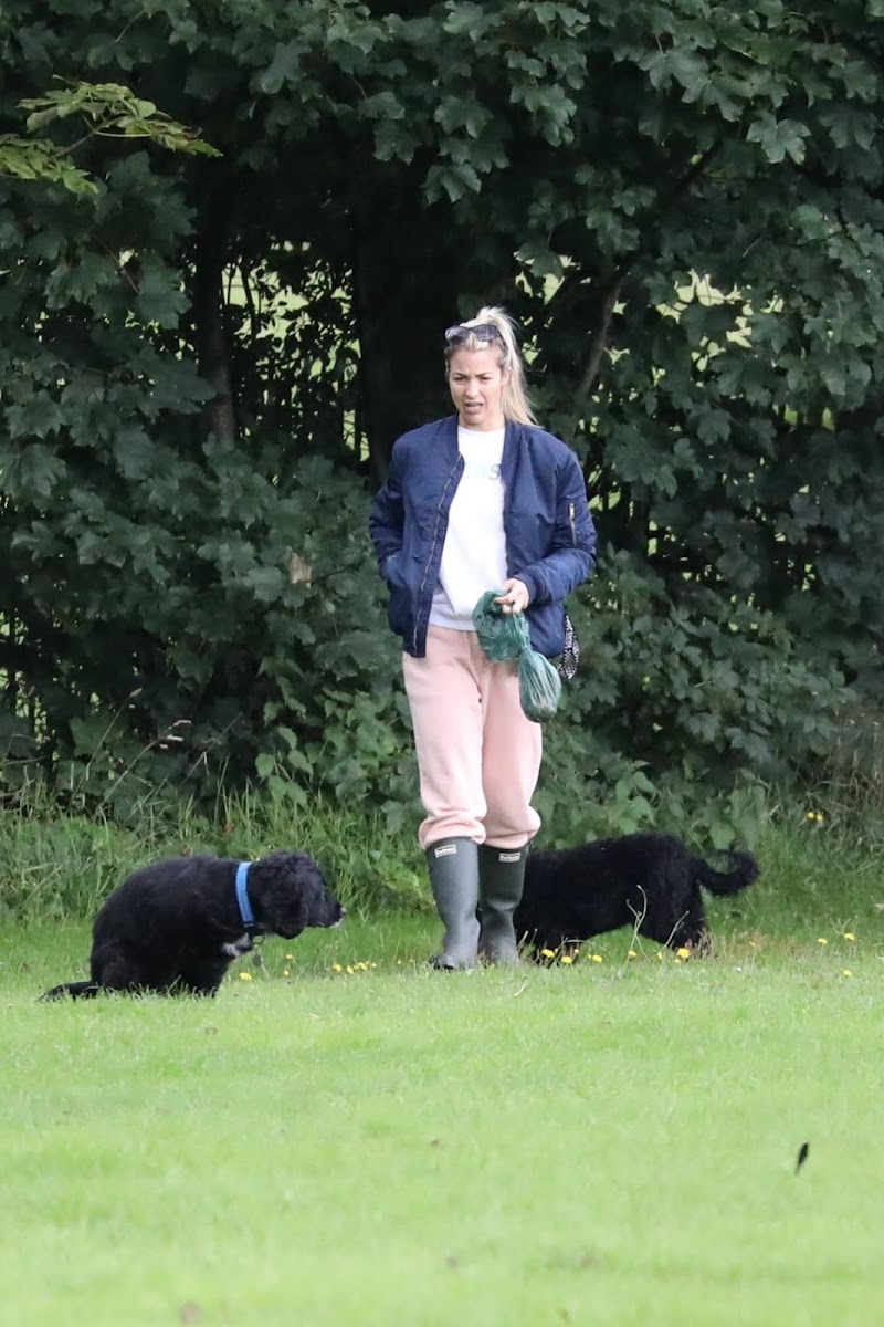Gemma Atkinson Clicked Outside with Her Dog at a Park in Manchester 3 Aug -2020