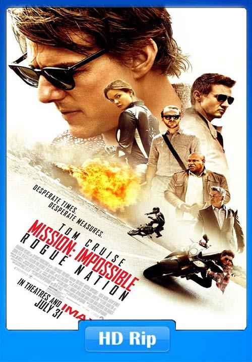 Mission Impossible Rogue Nation 2015 720p BDRip Hindi Tamil Telugu Eng x264 | 480p 300MB | 100MB HEVC