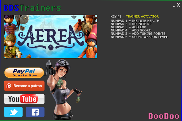 Aerea Trainer Cheat for PC