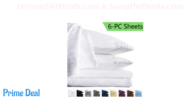 45%OFF Twin Bed Sheets Set - Super Soft Brushed Microfiber 1800 Thread Count