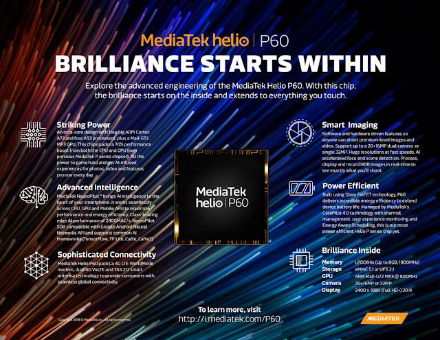 MediaTek impulsa el futuro de los teléfonos móviles con el nuevo chipset Helio P60
