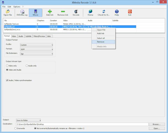 تحميل برنامج تحويل الفيديو والصوت للكمبيوتر مجانا XMedia Recode 3.2.9