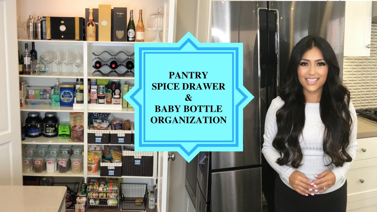 Adriana Aden: Updated Pantry, Spice Drawer & Baby Bottle Organization