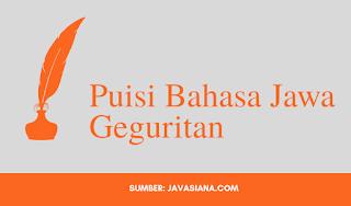 Puisi Bahasa Jawa Geguritan