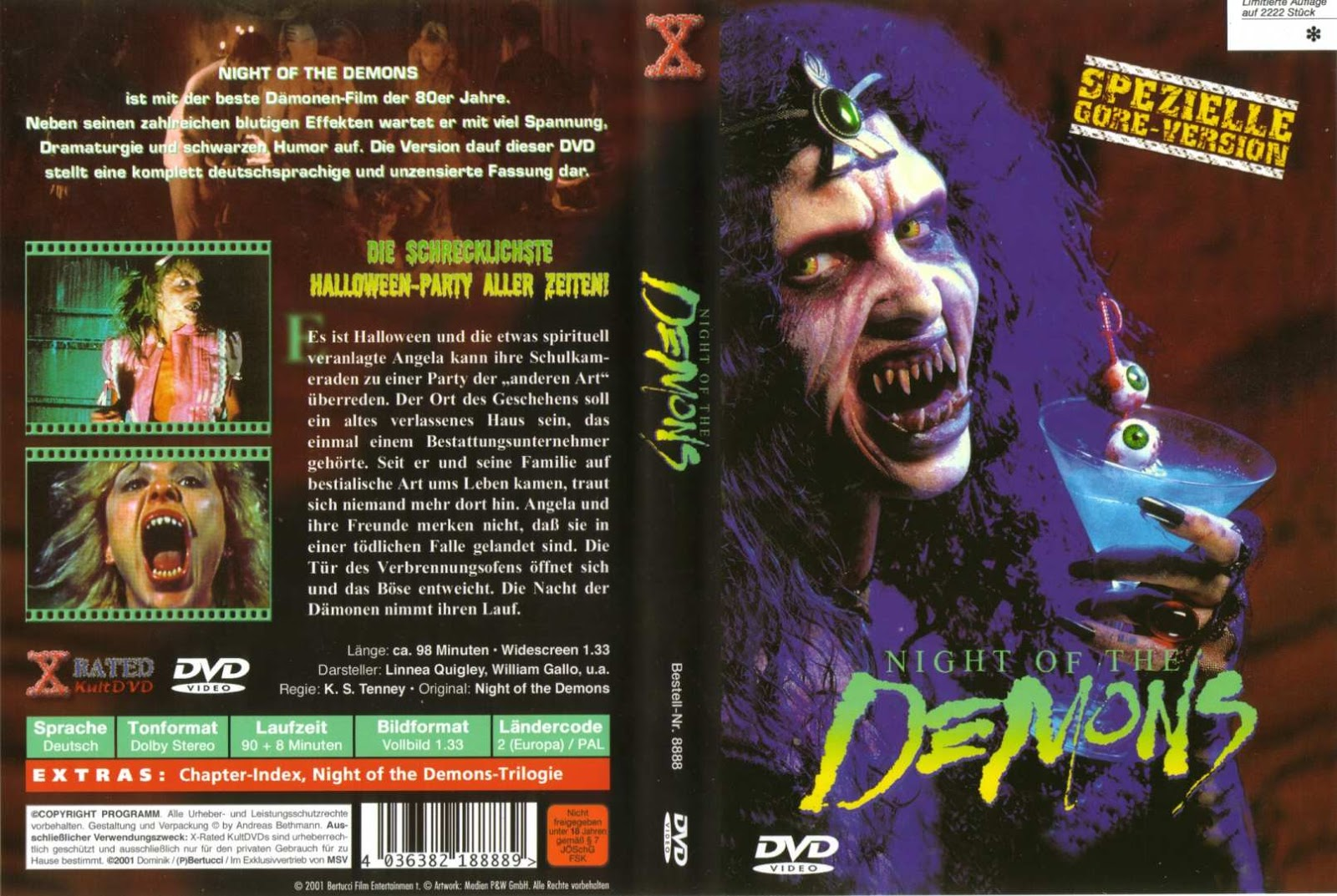 The Horrors of Halloween: NIGHT OF THE DEMONS Trilogy VHS and DVD ...