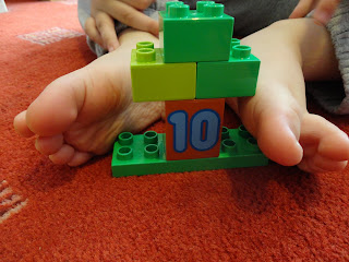Ten Wiggly Toes and a Ten Lego Block