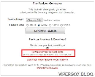 Cara Membuat Favicon di www.favicon.co.uk