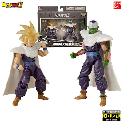 San Diego Comic-Con 2020 Exclusive Dragon Ball Super Dragon Stars Series Super Saiyan Gohan & Piccolo Cape Version Action Figure 2 Pack by Bandai x Entertainment Earth