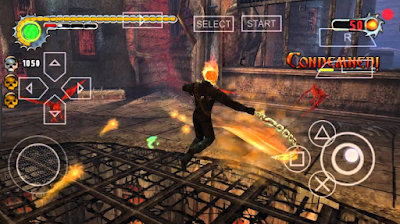 Game Ghost Rider PPSSPP ISO High Compress For Android Full Version Free Download