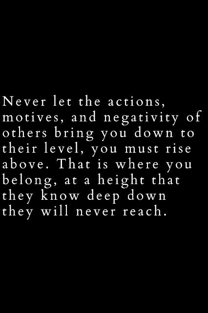 Negativity must go!